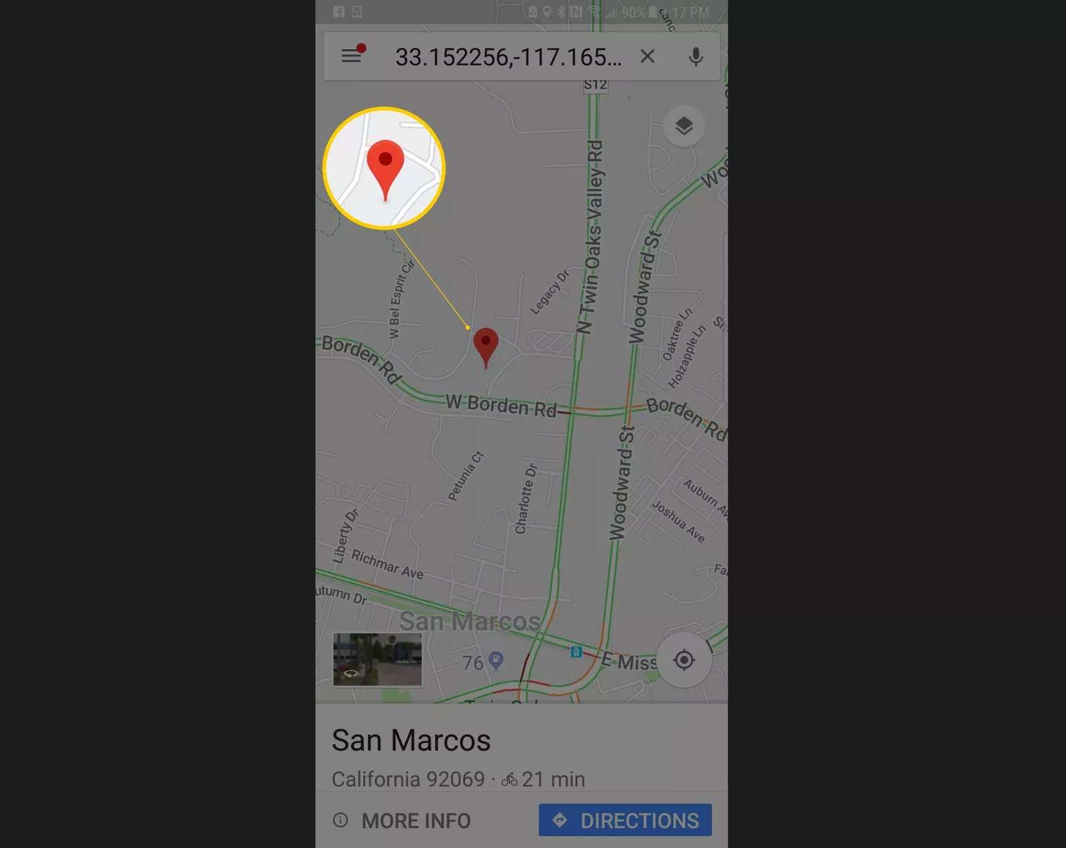 Cách lấy tọa độ trên google map android