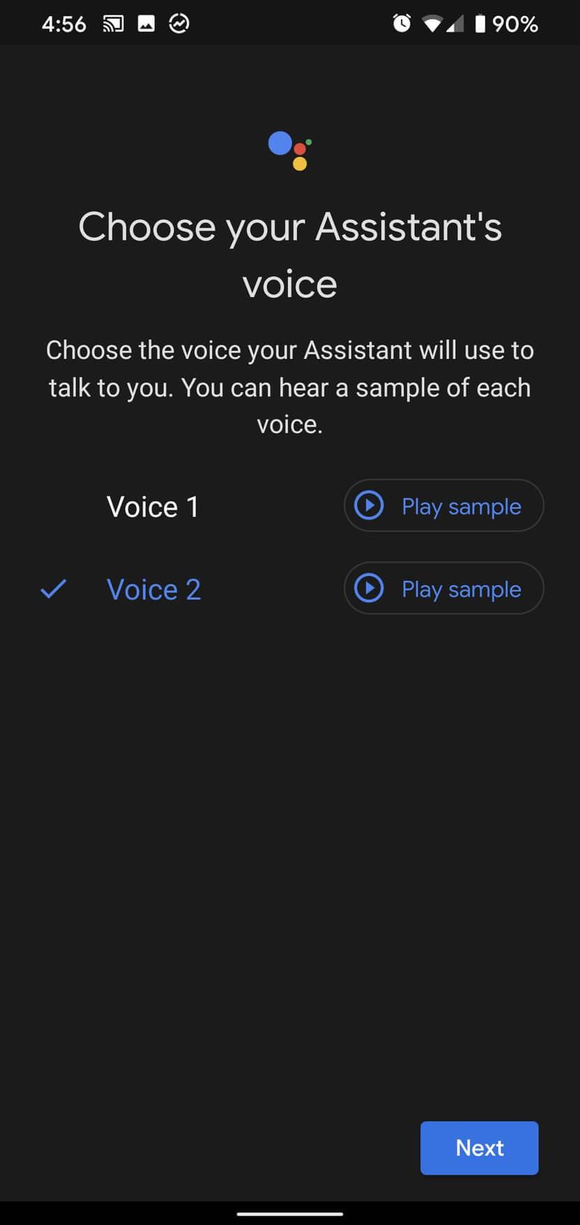 Chọn giọng nói của trợ lý ảo