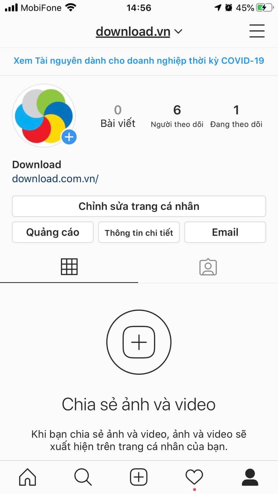 Hồ sơ Instagram Download.com.vn