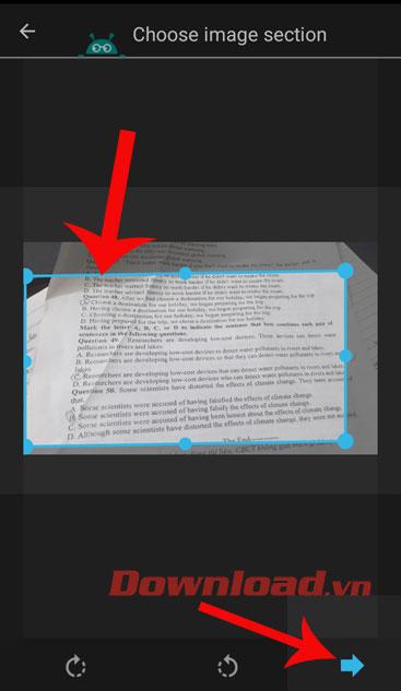 <p><strong>Bước 5:</strong> Điều chuyển độ rộng của hình chữ nhật, để thiết lập khu vực văn bản mà mình