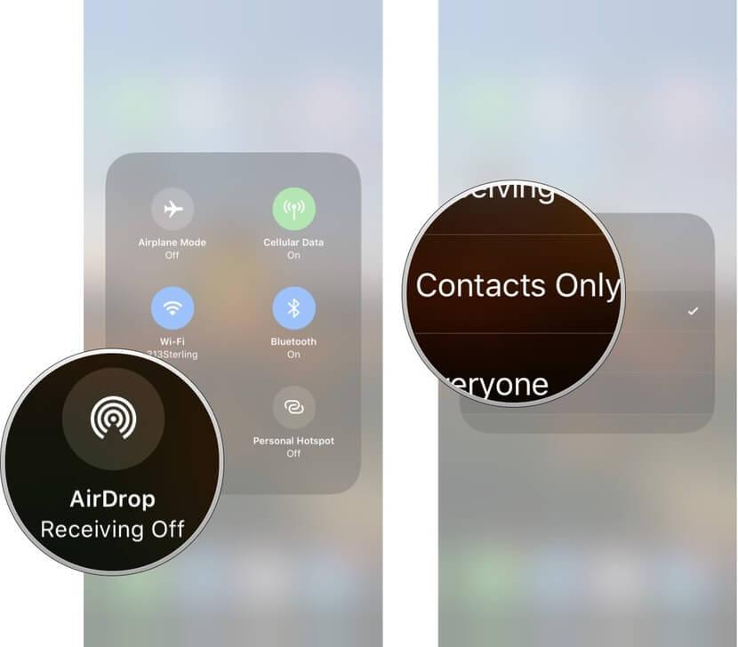 Bật AirDrop trên iPhone X