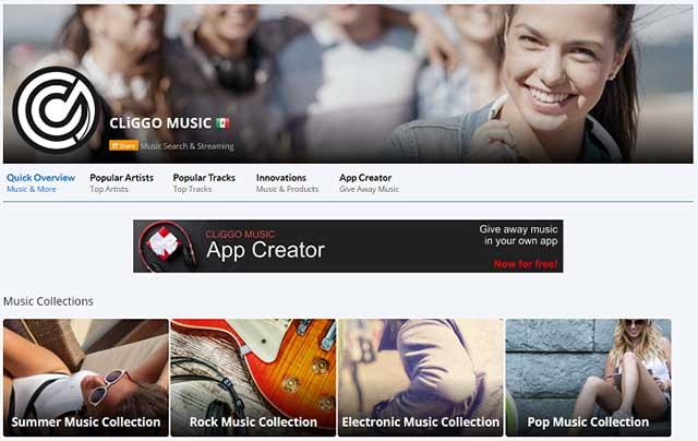 Cliggo là dịch vụ nghe nhạc tuyệt vời để thay thế Spotify