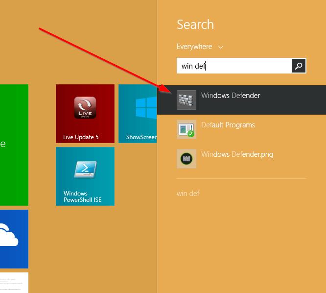 Tắt Windows Defender trên Windows 8