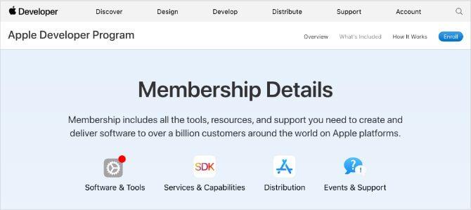 Đăng ký thành viên Apple Developer Program