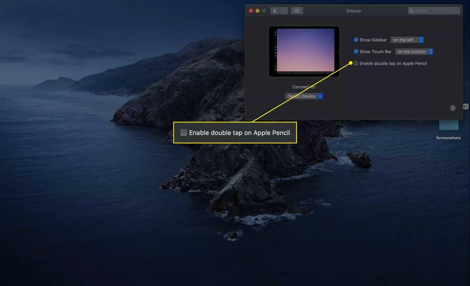 Tùy chọn click đúp vào Apple Pencil