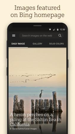 App Microsoft Bing Wallpapers