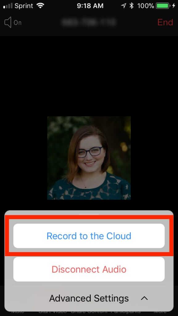 Tích nút ghi hình trên đám mây ở ứng dụng Zoom