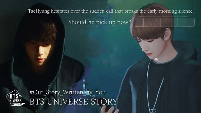 Lựa chọn diễn tiến câu chuyện trong BTS Universe Story
