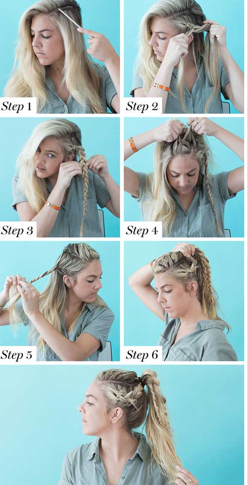 Cách tết tóc đuôi ngựa
