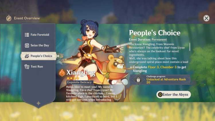 Phần thưởng bình chọn trong Genshin Impact