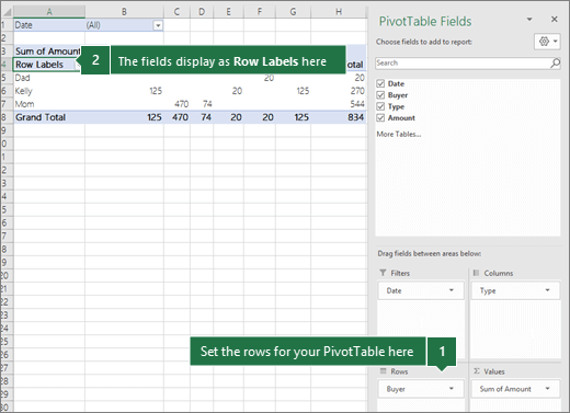 Cột Rows trong Excel