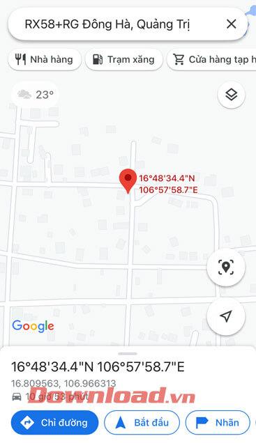 Vị trí đã được tìm
