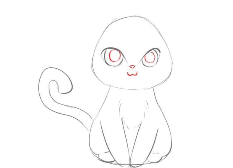 Vẽ mắt mèo anime