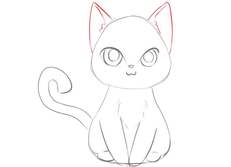 Vẽ tai mèo anime