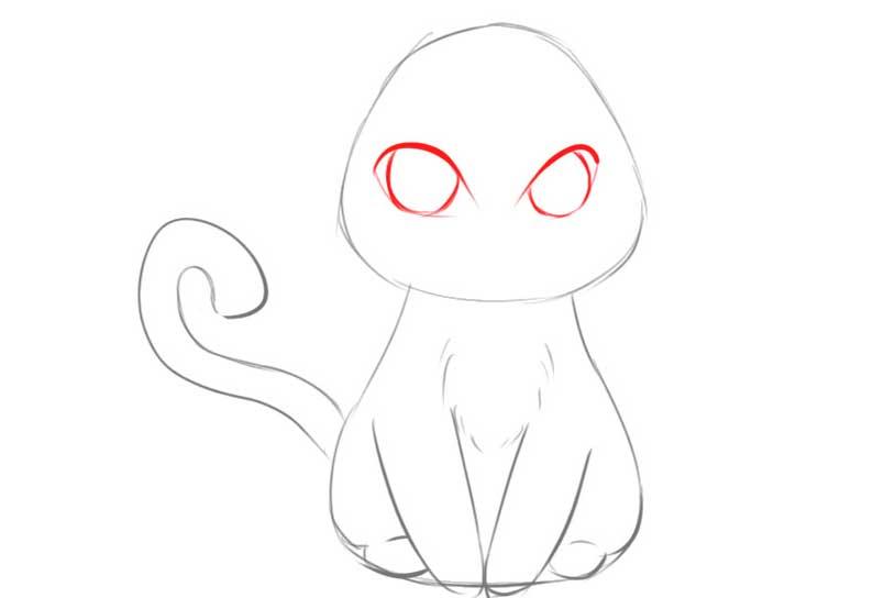 Hoàn thiện phần thân mèo anime