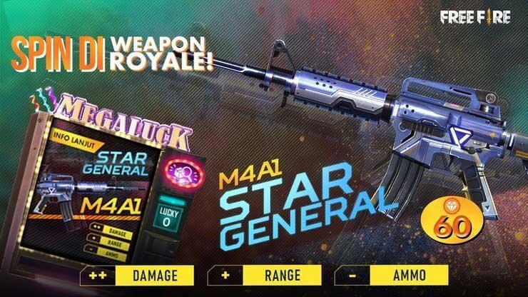 Skin súng FF M4A1 Star General