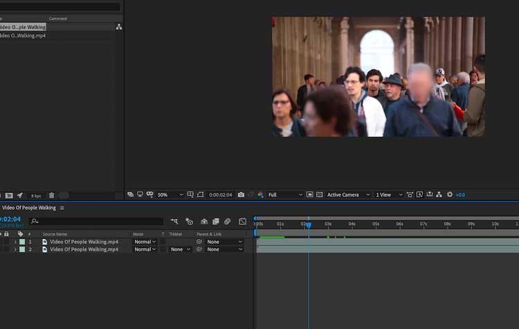 Làm mờ đối tượng trong video bằng Mocha AE