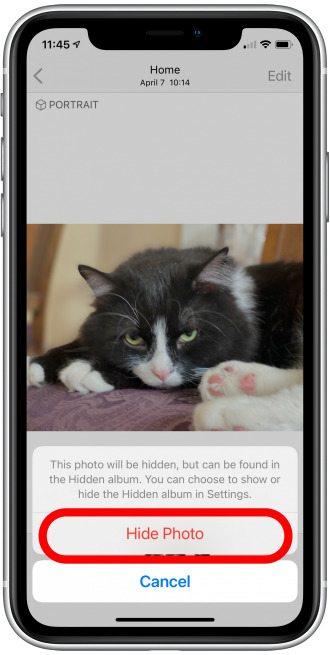 Ẩn ảnh trên iPhone