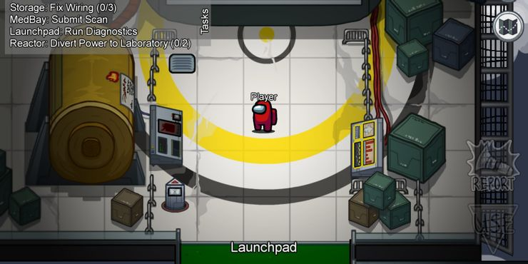 Hạ thủ ở Launchpad trong Among Us