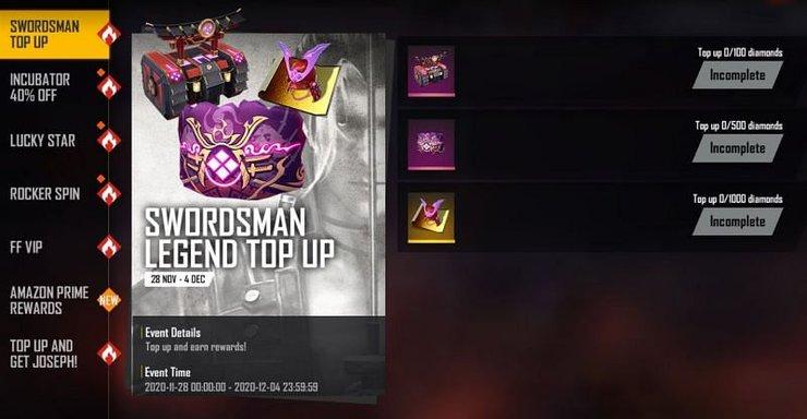 Skin Swordsman Legend Top Up