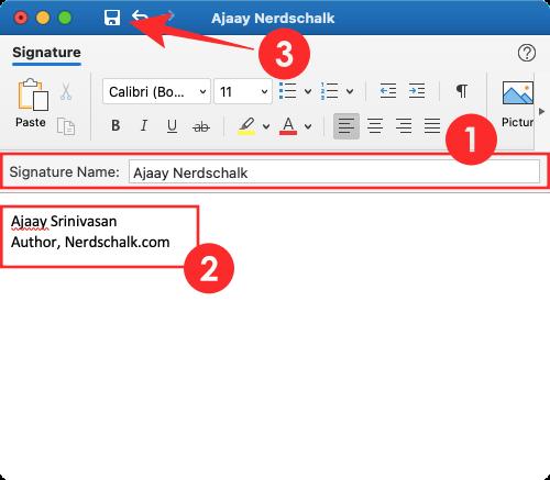 Lưu lại chữ ký điện tử trên Outlook