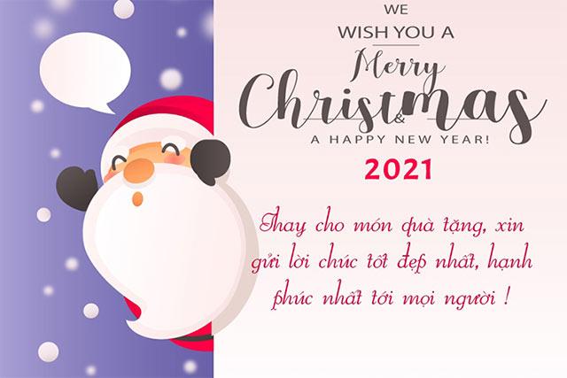 Thiệp chúc giáng sinh năm mới đẹp