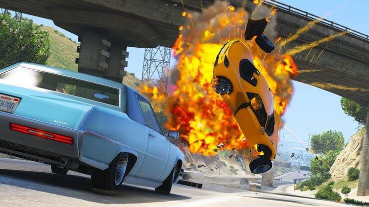 Va chạm xe trong GTA 5