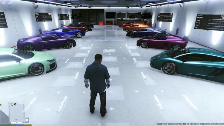 Mua nhà xe trong GTA 5