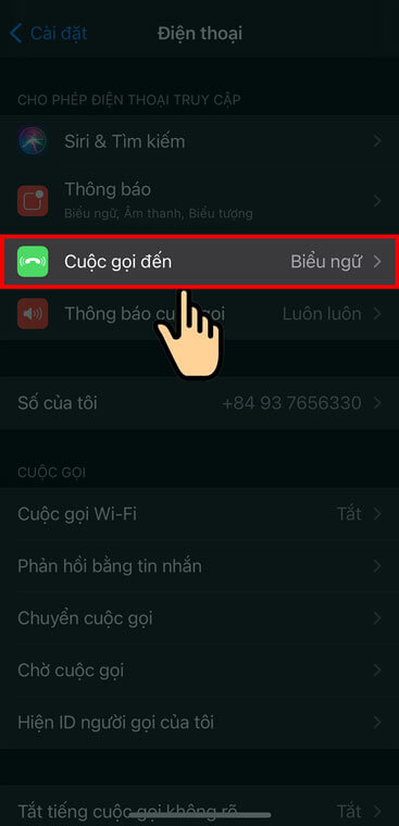 Click on Incoming Calls