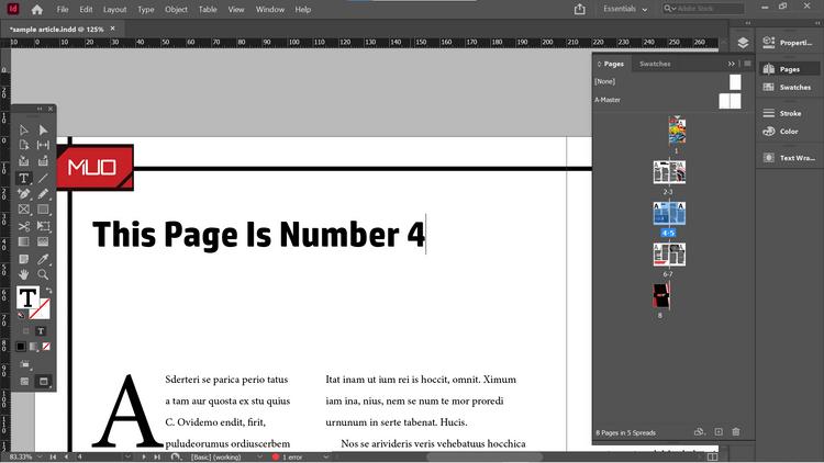 Đánh trang số 4
