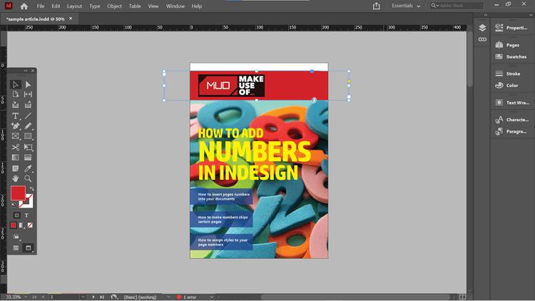Cách tự đánh số trang trong Adobe InDesign