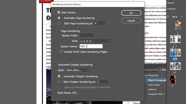 Thêm đánh số trang trong Adobe InDesign