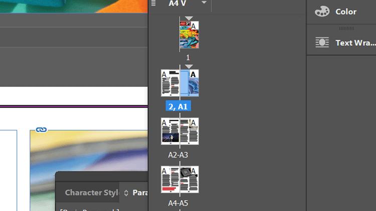 Áp dụng tiền tố cho trang trong Adobe InDesign