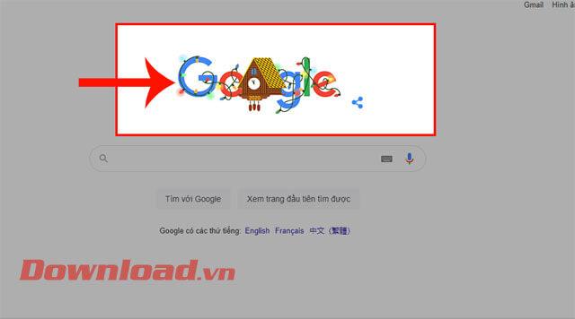 Nhấn vào biểu tượng của Google