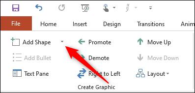 Thêm hình dạng vào sơ đồ trong PowerPoint