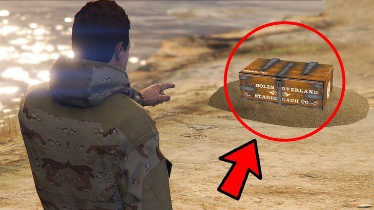 Vị trí tìm thấy kho báu trong GTA Online