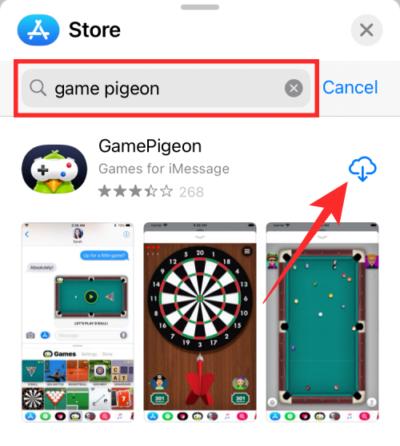 Tìm game Pigeon trên Store