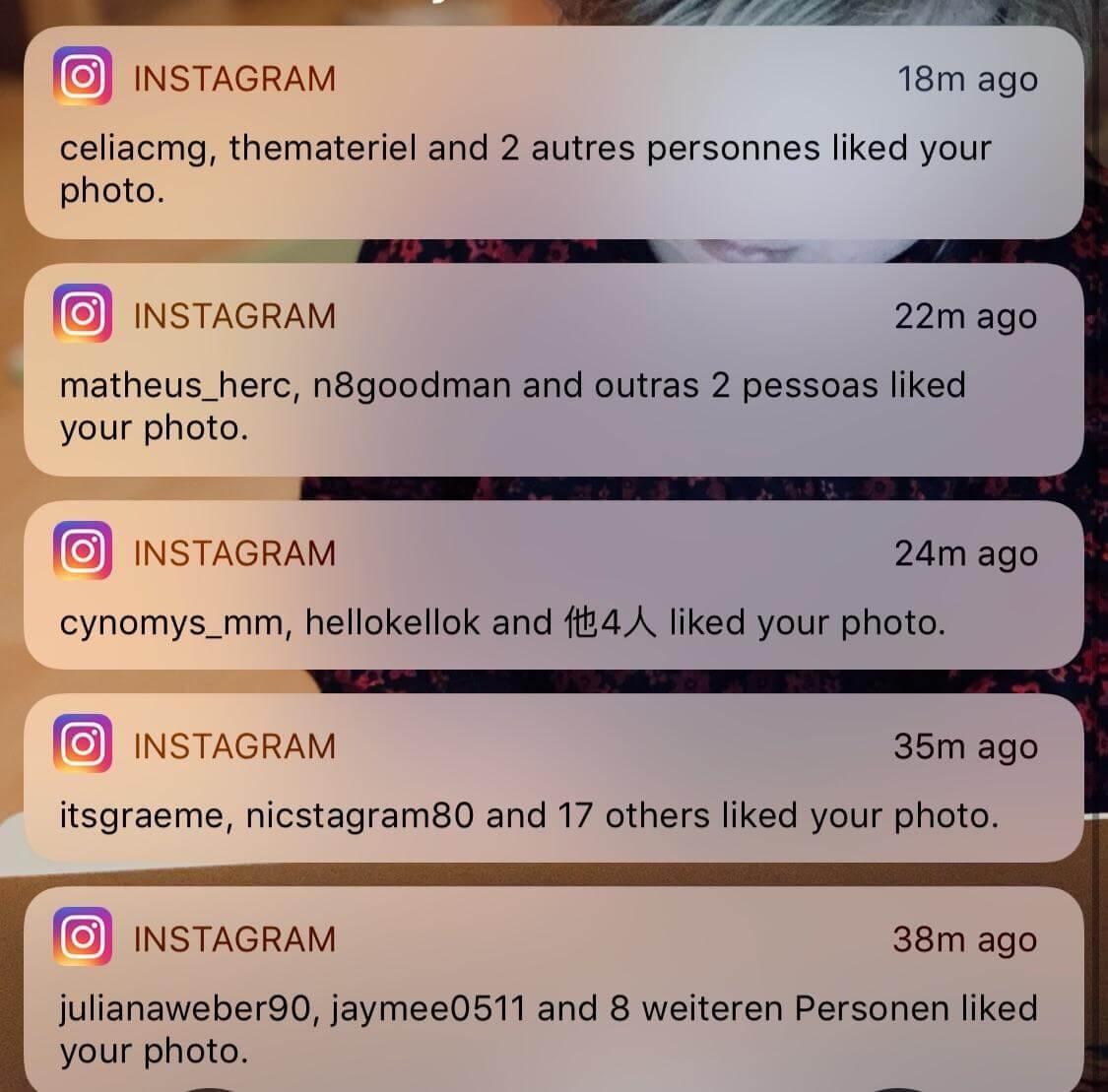 Thông báo đẩy cho Instagram
