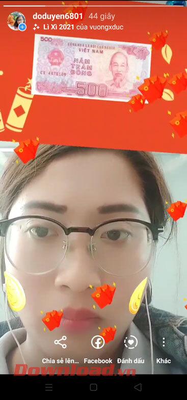 Video đã được đăng lên Instagram