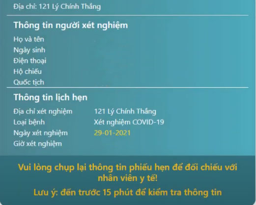 Hướng dẫn đặt lịch xét nghiệm trực tuyến covid 19 TP Hồ Chí Minh update 11