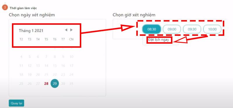 Hướng dẫn đặt lịch xét nghiệm trực tuyến covid 19 TP Hồ Chí Minh update 10