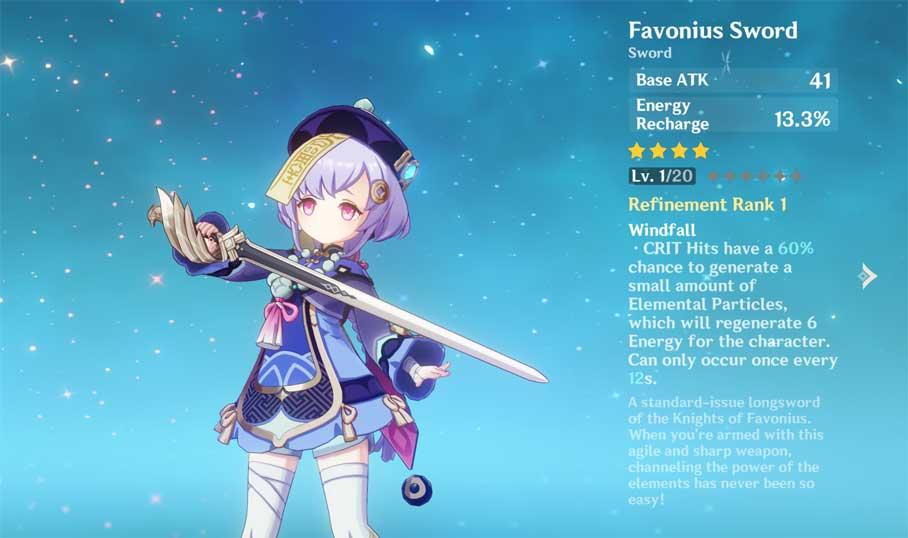 Favonius Sword trong Genshin Impact