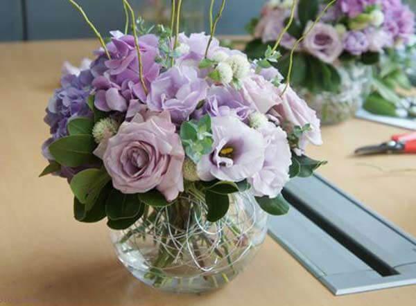 Cắm hoa Tường Vi