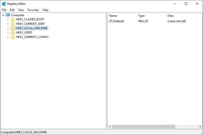 Trình chỉnh sửa registry