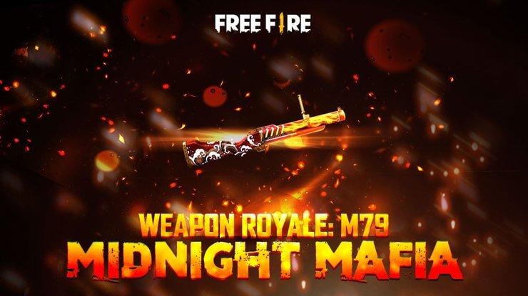Skin súng Free Fire M79: Midnight Mafia