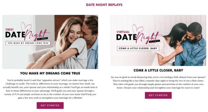 Web tìm ý tưởng hẹn hò online