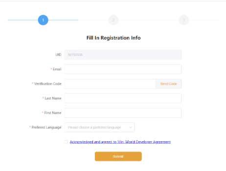 Điền thông tin đăng ký vào mẫu