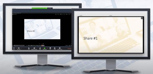 Xem nhiều màn hình được chia sẻ trên Zoom