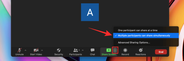 Tính năng chia sẻ nhiều màn hình đồng thời trên Zoom