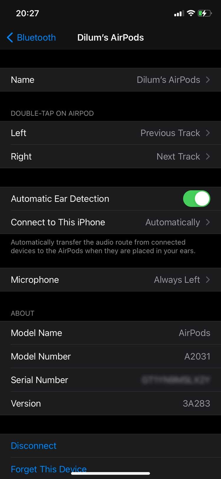 Xem cài đặt mic trên iPhone